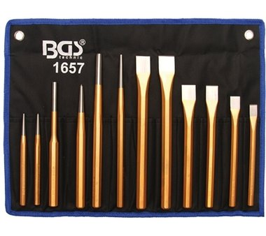 12-piece Pin Driver Set, including Chisel + Punch