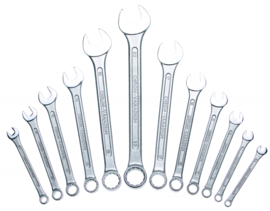 12-piece Combination Spanner Set, in Accordance with DIN 3113, 6-22 mm