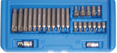 Bit Set | 10 mm (3/8) drive | T-Star tamperproof (for Torx) | 26 pcs.