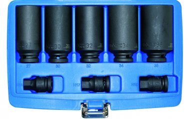 8-piece Drive Shaft Socket Set  27-30-32-34-36 mm
