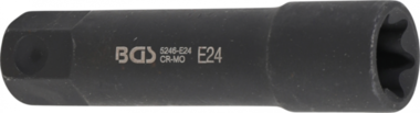 Socket, E-Type, extra long 22 mm drive E24