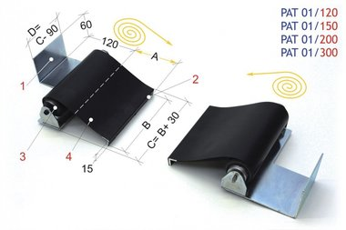 Roll-up 2000mm, -3kg