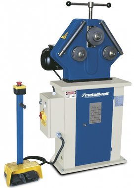 Profile bending machine for horizontal and vertical use