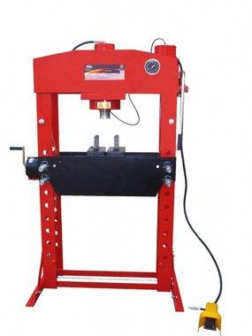 Atelierpers 50t manueel/pneumatisch beweegbare cilinder