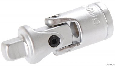 Universal Joint, satin chrome plated, 1/2