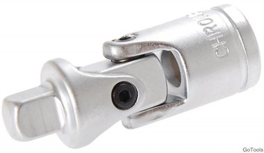 Universal Joint, satin chrome plated, 3/8