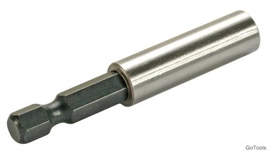 Magnetic Bit-Holder external Hexagon 6.3 mm (1/4) 60 mm