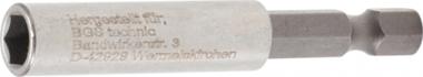 Magnetic Bit-Holder, extra strong external Hexagon 6.3 mm (1/4) 60 mm