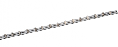 Socket Rail with 15 Clips 6.3 mm (1/4)