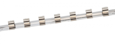 Socket Rail with 7 Clips 10 mm (3/8)