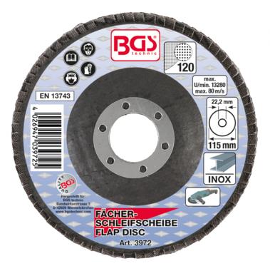 Flap Disc, Ø 115 mm, Grain Size 120