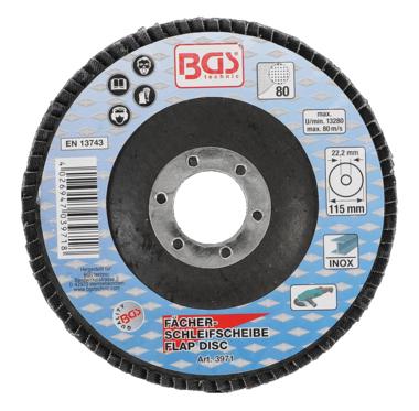 Flap Disc, Ø 115 mm, Grain Size 80