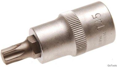 Socket wrench bit 12.5 mm (1/2) T-profile (for Torx) T45