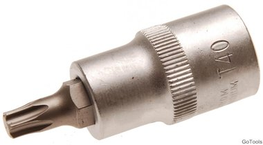 Socket wrench bit 12.5 mm (1/2) T profile (for Torx) T40