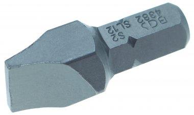 Vlakte slot bit 12 mm, 30 mm lang, 5/16 drive