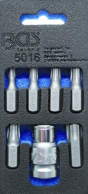 Screwdriver Bit Set | 10 mm (3/8) drive | T-Star (for Torx) | 7 pcs.