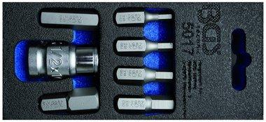 Screwdriver Bit Set | 10 mm (3/8) drive | internal Hexagon | 7 pcs.