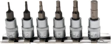 Bit Socket Set   6.3 mm (1/4) drive   internal Hexagon 1.5 - 6 mm