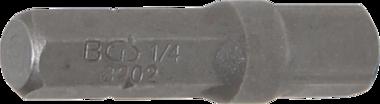 Bit Ratchet Adaptor ext. Hexagon 6.3 mm (1/4) - ext. square 6.3 mm (1/4) 30 mm