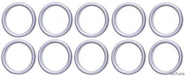 Seal Ring Assortment for BGS 126 Ø 13 / 16.5 mm 10 pcs.