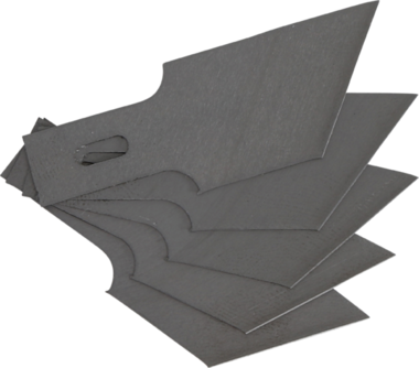Spare Scraper Blades Set for BGS 364, 0.6 x 16 mm x 53° 5 pcs