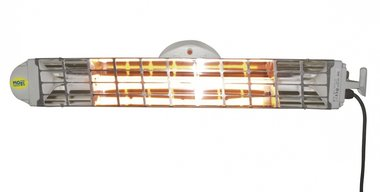 Double infrared heater with 2 lamps