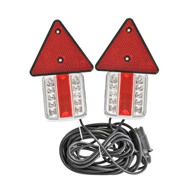 Trailer lights LED with magnets reflectors 7,5+2,5M cable