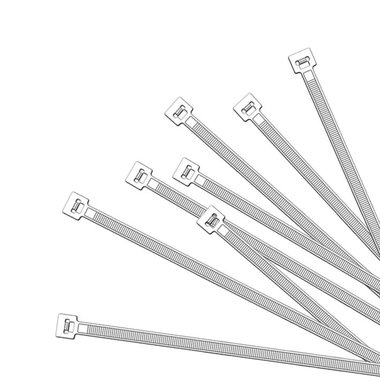 Cable ties 280x4,5mm 1000 pieces white