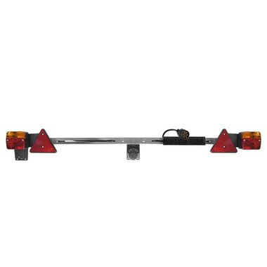 Trailerboard metal 140-200cm telescopic + 12M cable