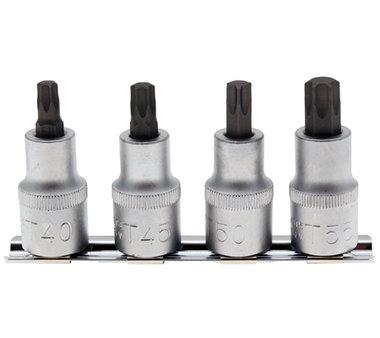 4-piece T-Star Bit Socket Set, T40-T55, 12.5 (1/2)