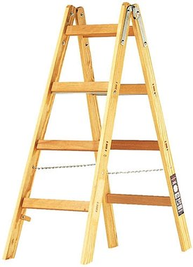 Wooden ladder 2x4 rungs Height of the frame ladder 1,2m