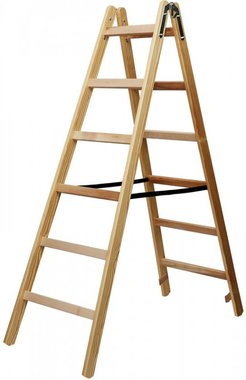 Wooden ladder 2x6 rungs Height of the frame ladder 1,58m