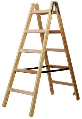 Wooden ladder 2x5 rungs Height of the frame ladder 1,32m
