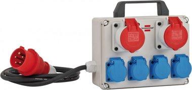 Mini power distributor BKV 2/4 T IP44