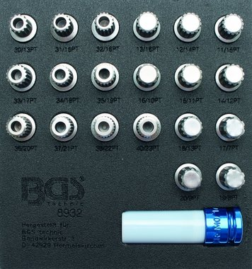 21-piece Rim Lock Socket Set for BMW
