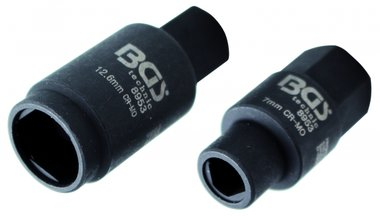 3-pt. Sockets for Injection Pumps, 7 & 12.6 mm