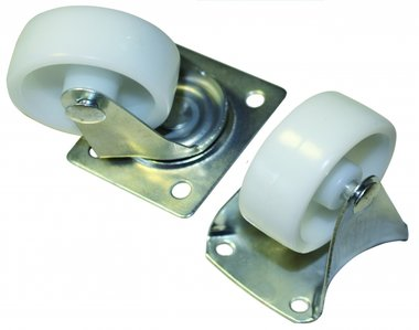4-piece Swivel and Fixed Castors Set, 38 mm