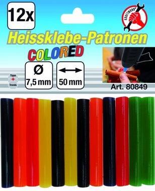 12-piece Colored Glue Sticks, 7.5 mm