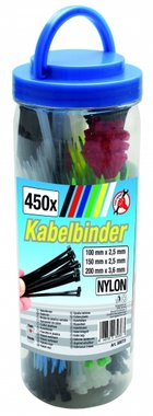 450-piece Colored Cable Tie Assortment