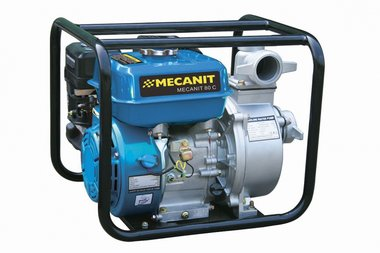 Pump with petrol engine for rubbish water 100 mm