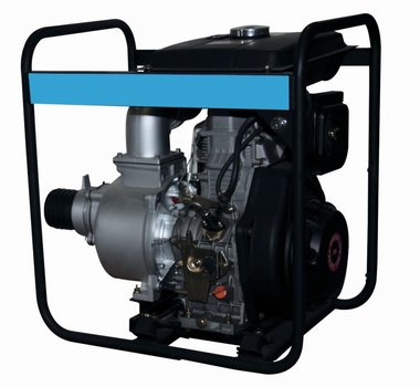 Pump with diesel motor for wastewater