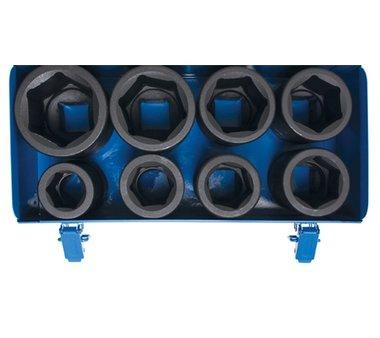 Impact Socket Set, Hexagon, deep 25 mm (1) drive 27 - 50 mm 8 pcs