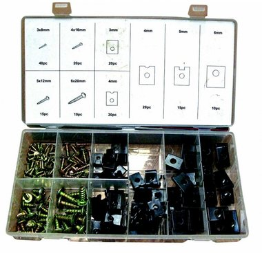 U Clip & Screw Assortment 170pc