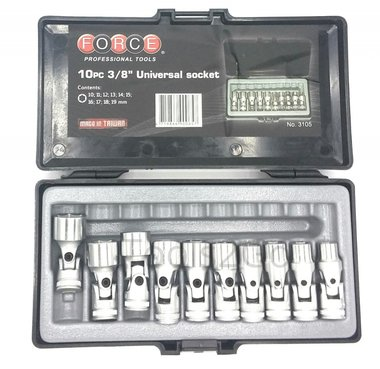 3/8 Universal socket set 10pc