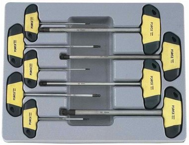 Hex ball point screwdriver T handle set 9pc