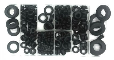 Rubber Grommet Assortment 180pc