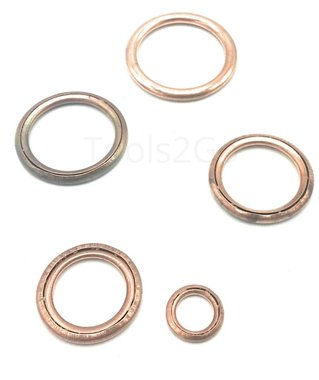 Copper Crush Washer Assortment 150pc