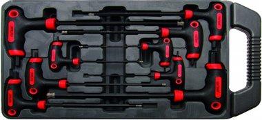 9-piece T-Handle Key Set for Internal Hexagon Screws