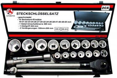 3/4 Socket Set, 20-pc.
