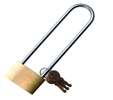Solid Brass Padlock, 40 mm, extra large Shackle